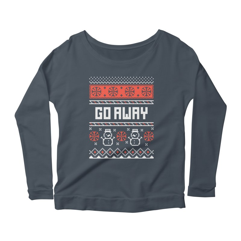 Go Away Women's Scoop Neck Longsleeve T-Shirt by Casandra Ng