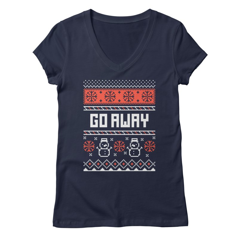 Go Away Women's V-Neck by Casandra Ng