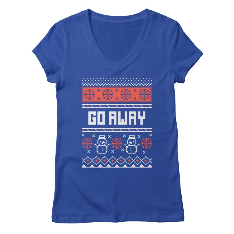 Go Away Women's Regular V-Neck by Casandra Ng