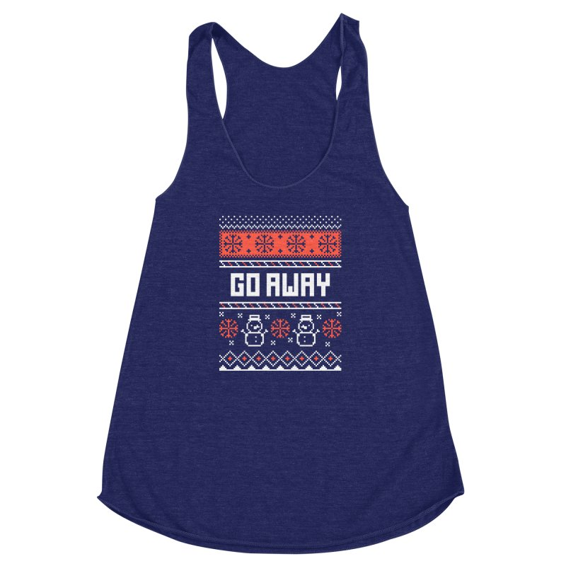 Go Away Women's Racerback Triblend Tank by Casandra Ng