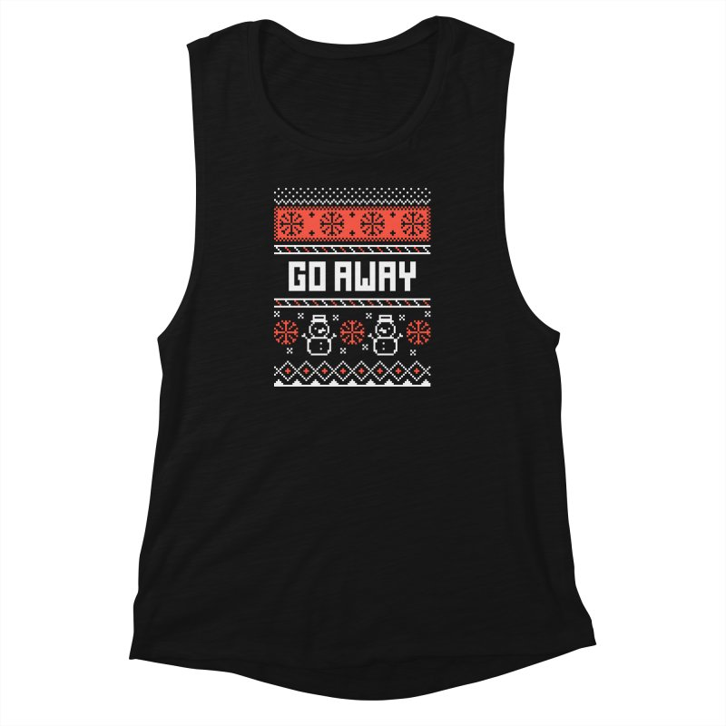 Go Away Women's Muscle Tank by Casandra Ng