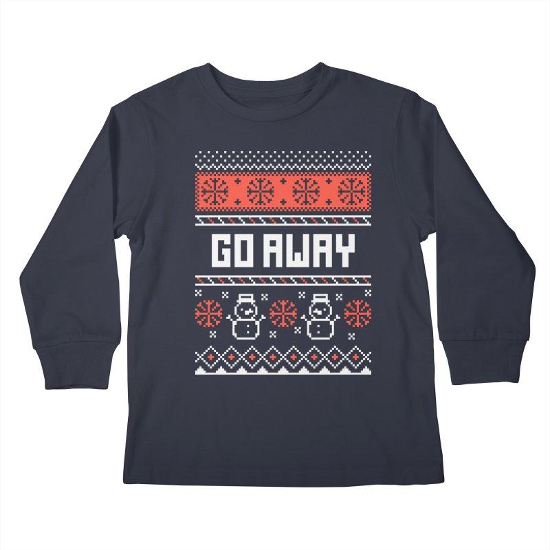 Go Away Kids Longsleeve T-Shirt by Casandra Ng