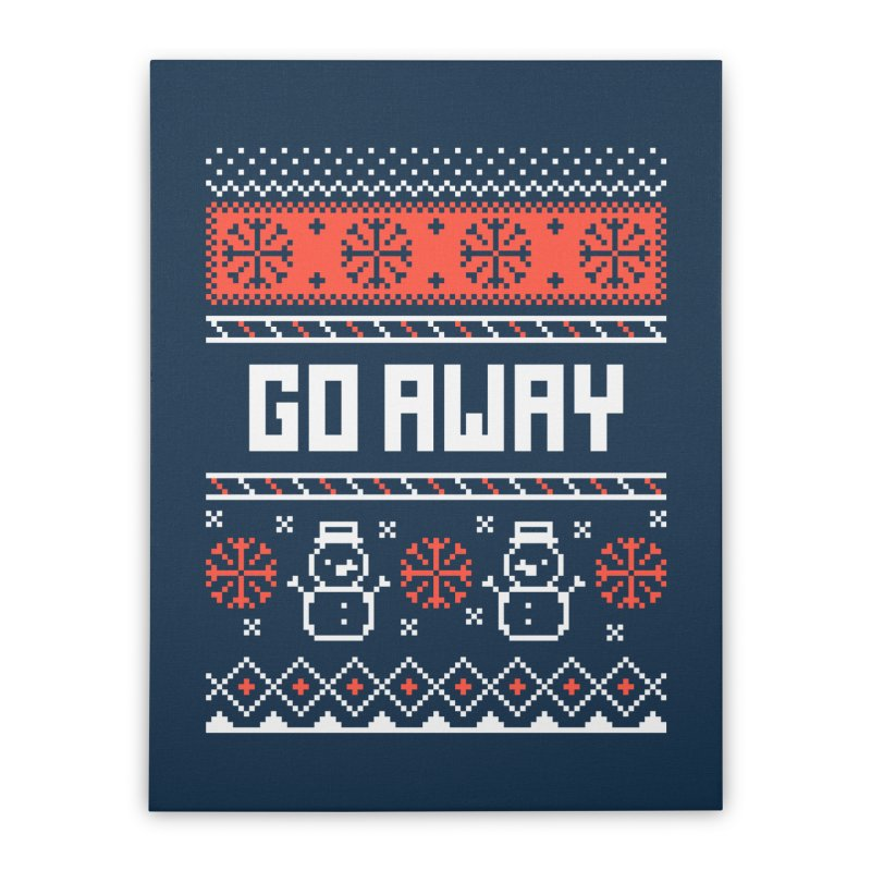 Go Away Home Stretched Canvas by Casandra Ng
