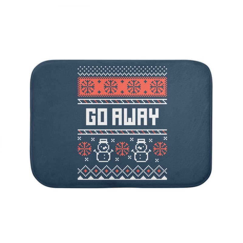 Go Away Home Bath Mat by Casandra Ng