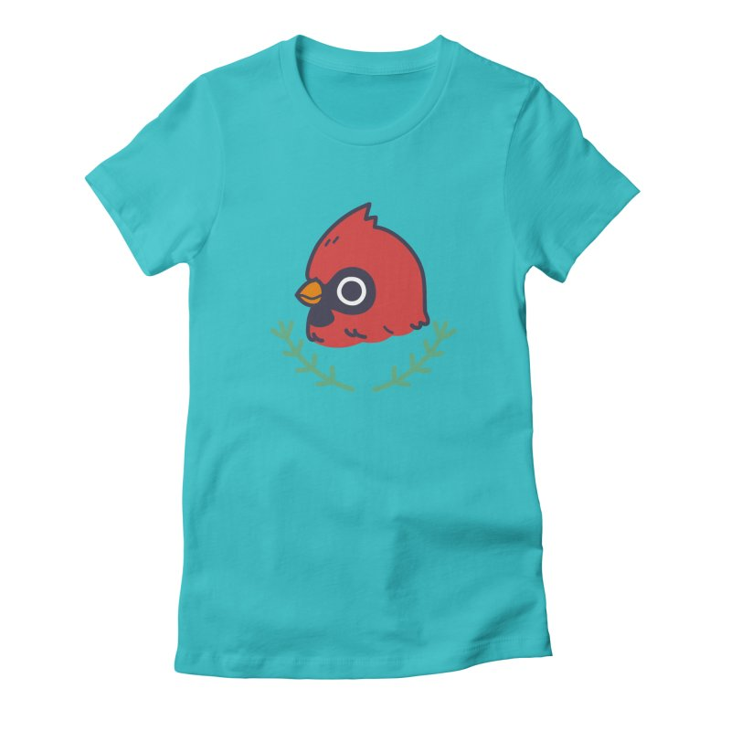 cardinal Women's Fitted T-Shirt by Casandra Ng