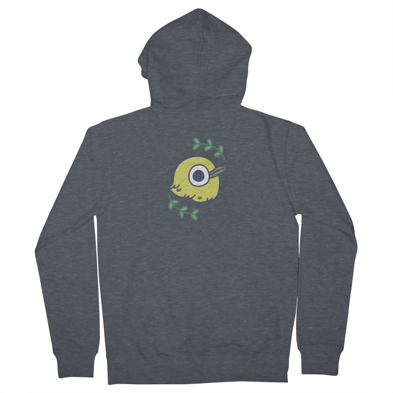 oriental white-eye Men's French Terry Zip-Up Hoody by Casandra Ng