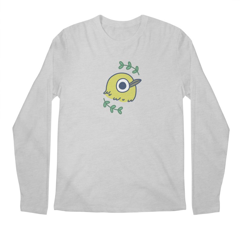 oriental white-eye Men's Longsleeve T-Shirt by Casandra Ng