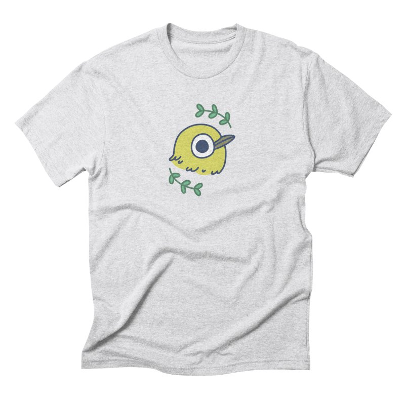 oriental white-eye Men's Triblend T-Shirt by Casandra Ng