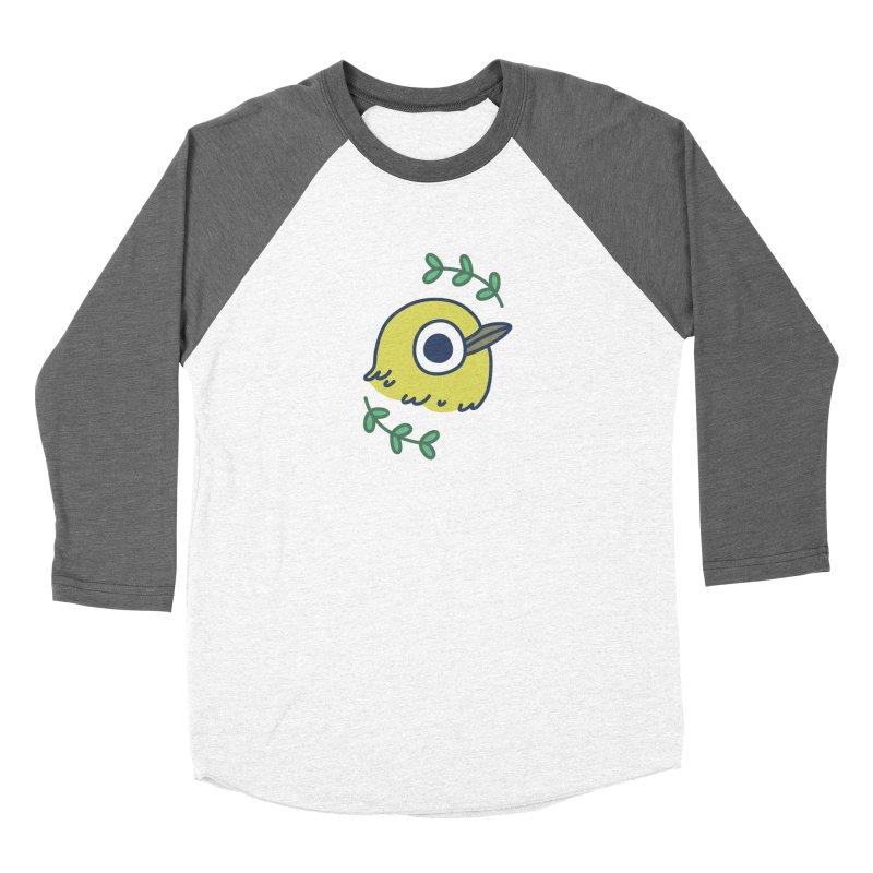 oriental white-eye Men's Baseball Triblend T-Shirt by Casandra Ng