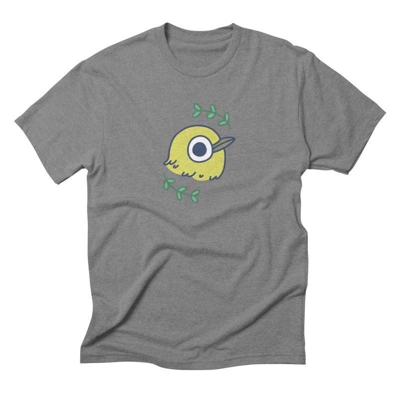 oriental white-eye Men's Triblend T-shirt by Casandra Ng
