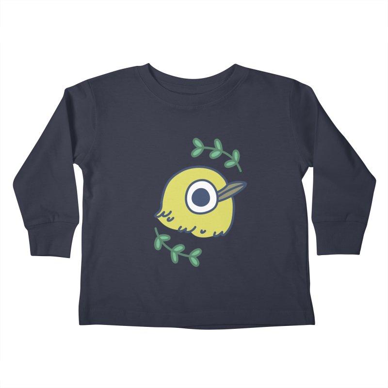 oriental white-eye Kids Toddler Longsleeve T-Shirt by Casandra Ng