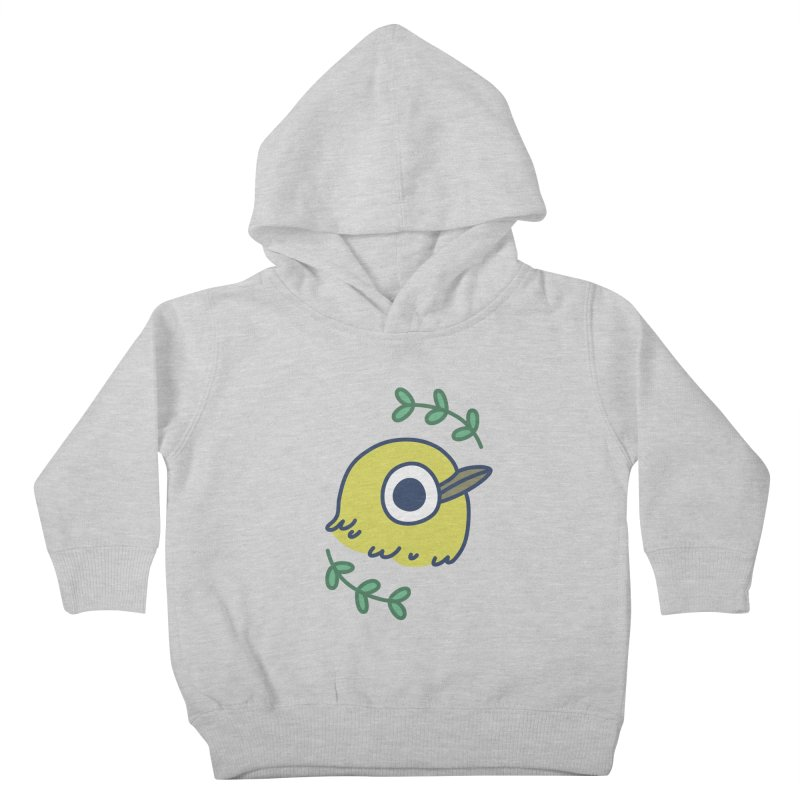 oriental white-eye Kids Toddler Pullover Hoody by Casandra Ng