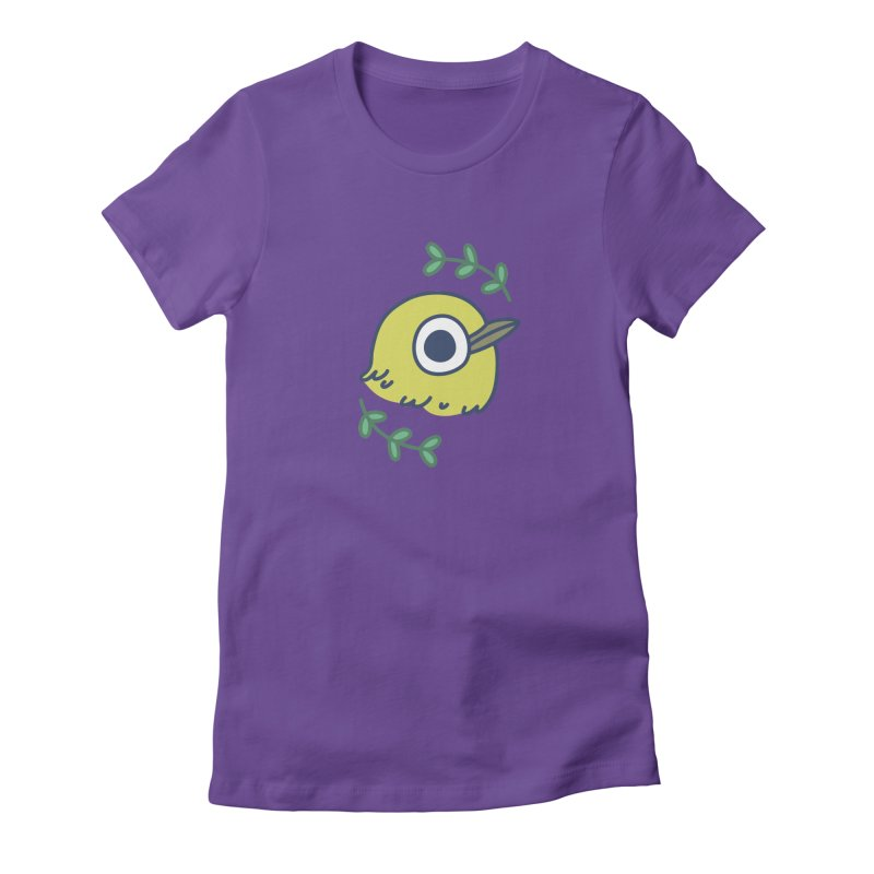 oriental white-eye Women's Fitted T-Shirt by Casandra Ng