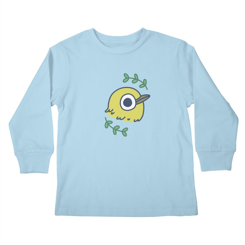 oriental white-eye Kids Longsleeve T-Shirt by Casandra Ng