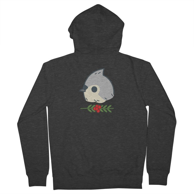 tufted titmouse Women's Zip-Up Hoody by Casandra Ng