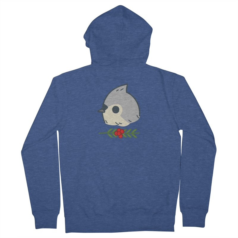 tufted titmouse Men's Zip-Up Hoody by Casandra Ng