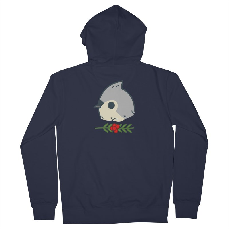 tufted titmouse Men's French Terry Zip-Up Hoody by Casandra Ng