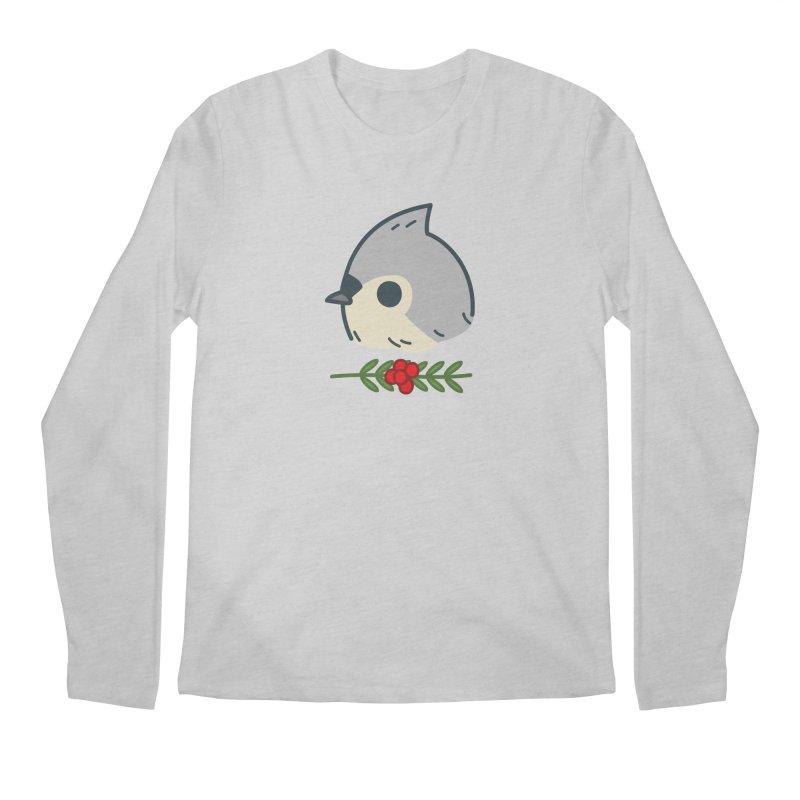 tufted titmouse Men's Longsleeve T-Shirt by Casandra Ng