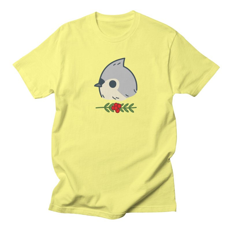 tufted titmouse Men's T-Shirt by Casandra Ng