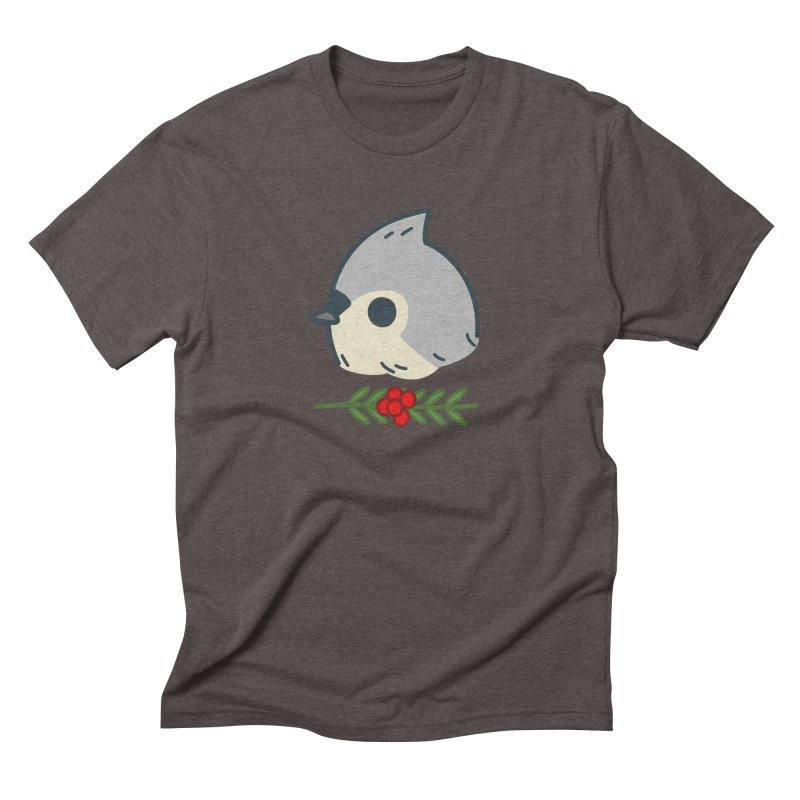 tufted titmouse Men's Triblend T-shirt by Casandra Ng