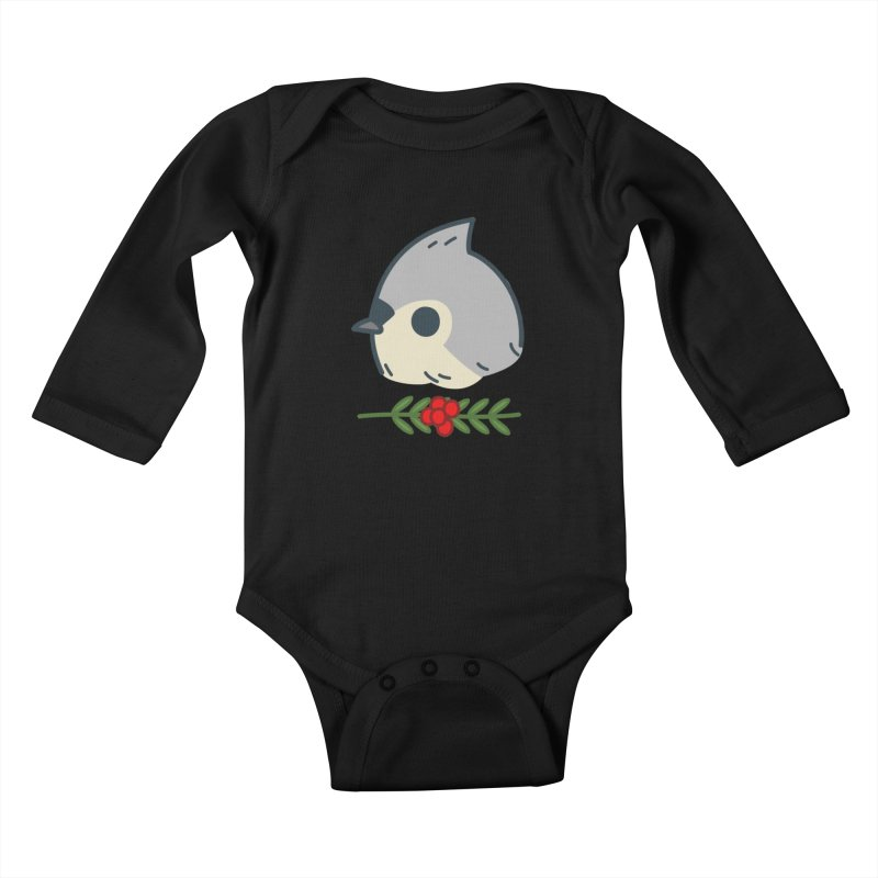 tufted titmouse Kids Baby Longsleeve Bodysuit by Casandra Ng