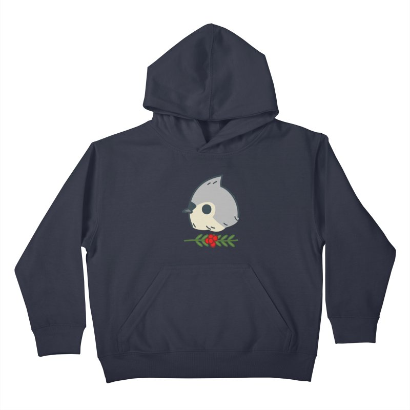 tufted titmouse Kids Pullover Hoody by Casandra Ng