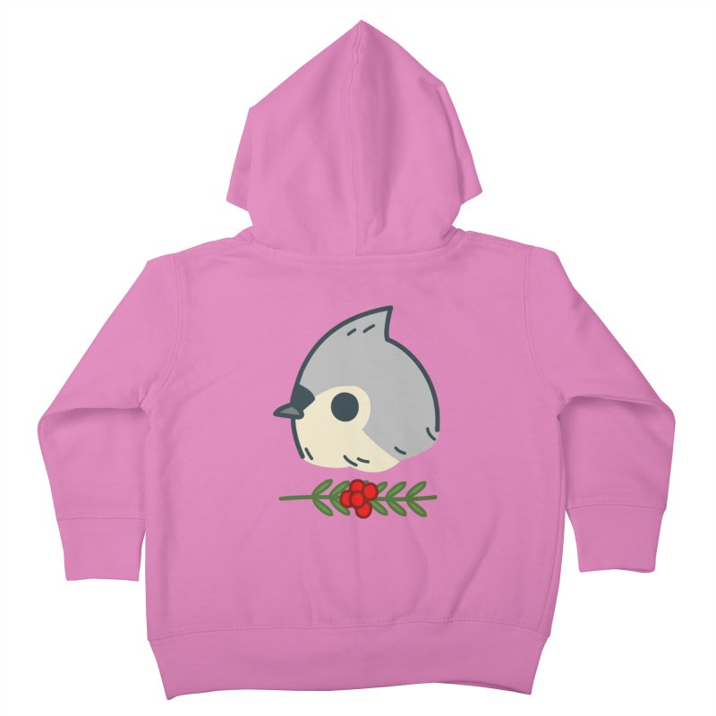 tufted titmouse Kids Toddler Zip-Up Hoody by Casandra Ng