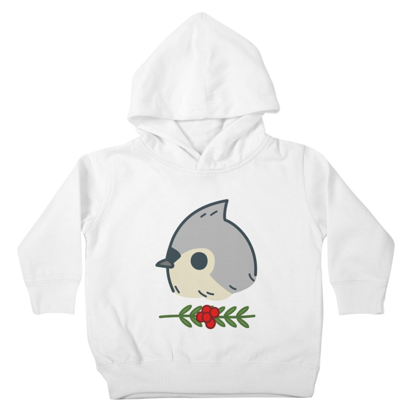 tufted titmouse Kids Toddler Pullover Hoody by Casandra Ng