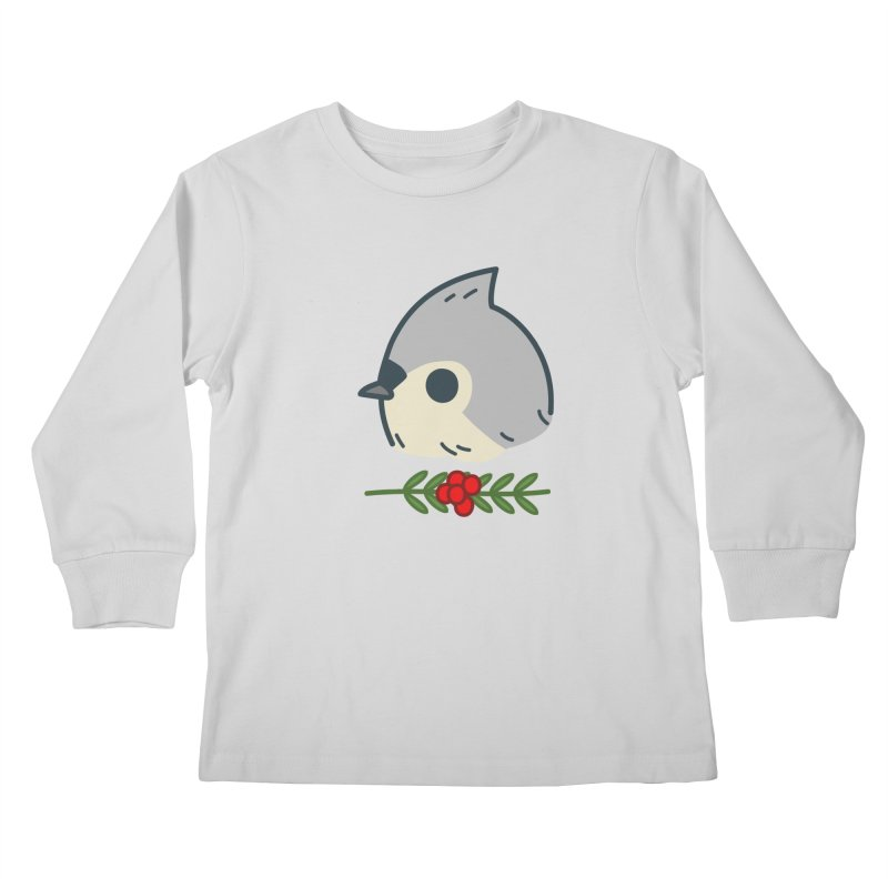 tufted titmouse Kids Longsleeve T-Shirt by Casandra Ng