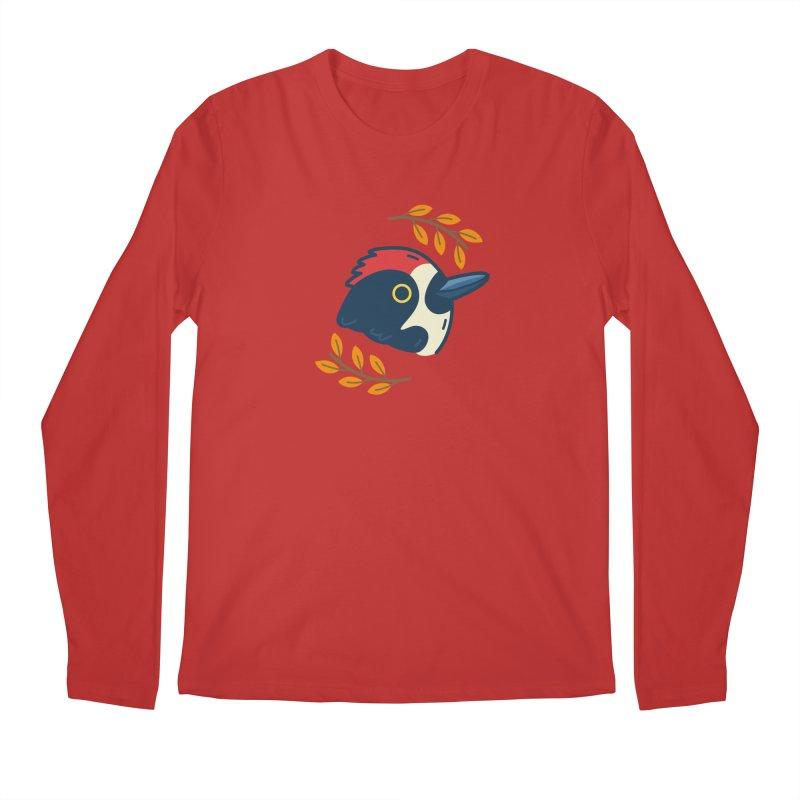 acorn woodpecker Men's Longsleeve T-Shirt by Casandra Ng