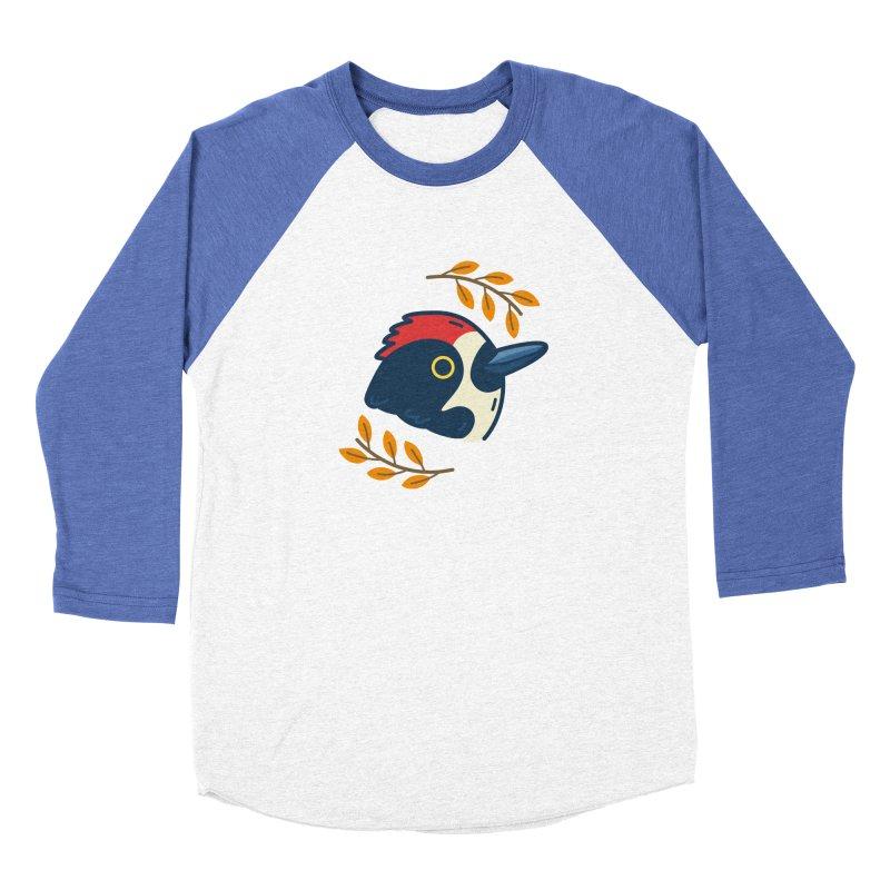 acorn woodpecker Women's Baseball Triblend T-Shirt by Casandra Ng