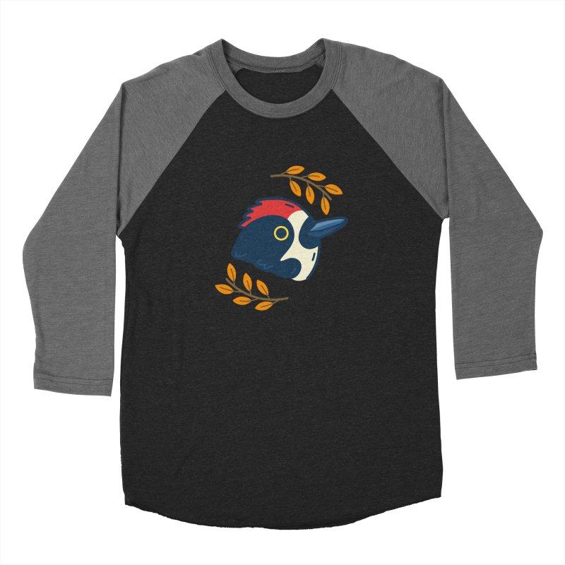 acorn woodpecker Men's Baseball Triblend T-Shirt by Casandra Ng
