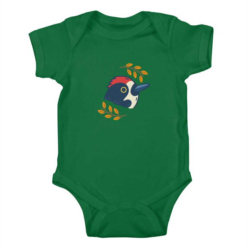 acorn woodpecker Kids Baby Bodysuit by Casandra Ng