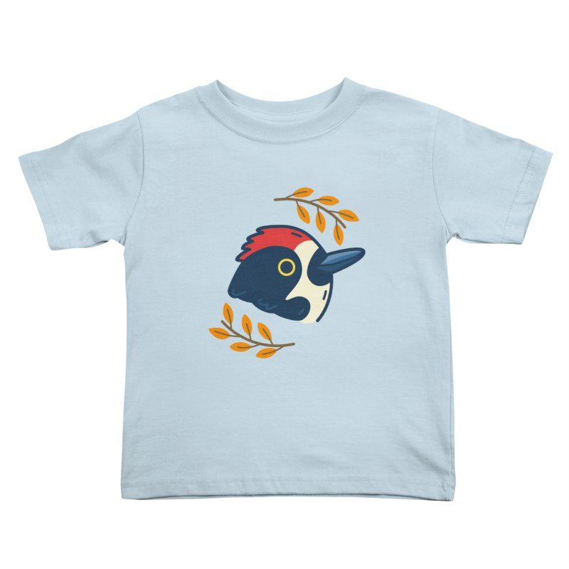 acorn woodpecker Kids Toddler T-Shirt by Casandra Ng