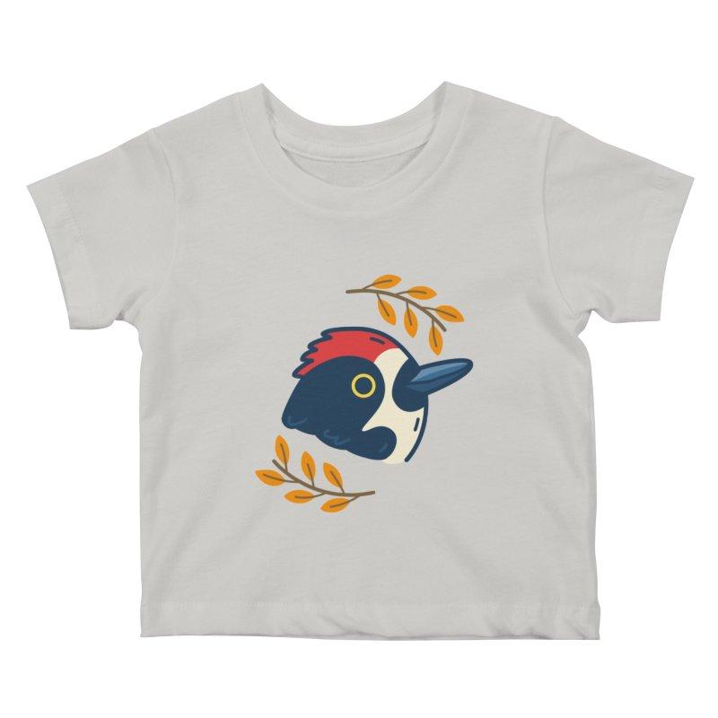 acorn woodpecker Kids Baby T-Shirt by Casandra Ng