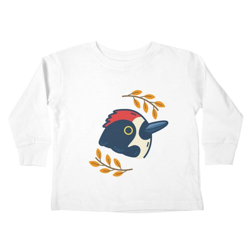acorn woodpecker Kids Toddler Longsleeve T-Shirt by Casandra Ng