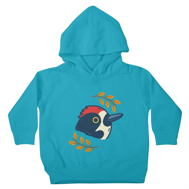 acorn woodpecker Kids Toddler Pullover Hoody by Casandra Ng