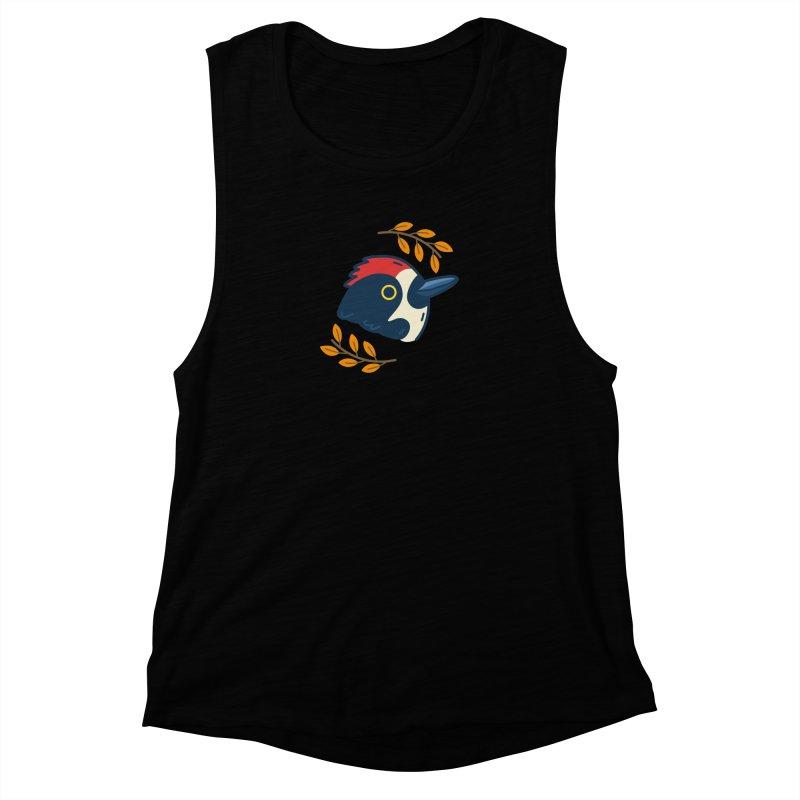acorn woodpecker Women's Muscle Tank by Casandra Ng