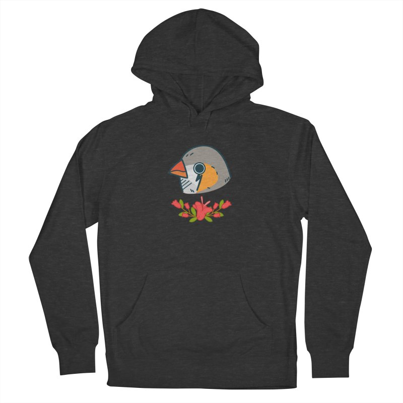 zebra finch Women's French Terry Pullover Hoody by Casandra Ng