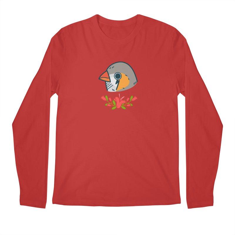 zebra finch Men's Regular Longsleeve T-Shirt by Casandra Ng
