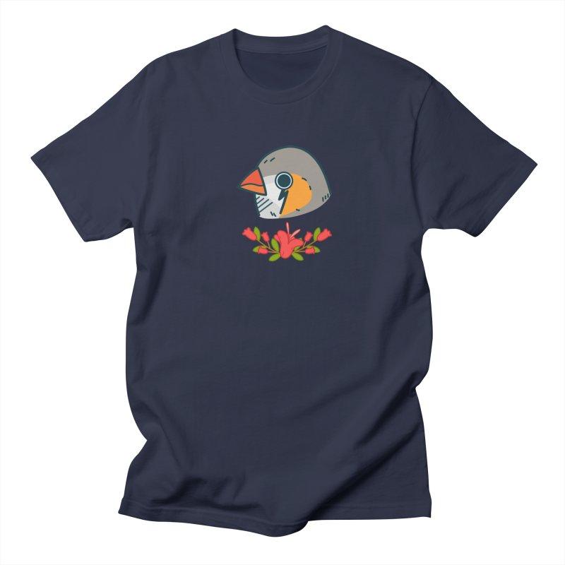 zebra finch Men's T-shirt by Casandra Ng