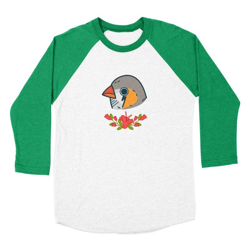zebra finch Women's Baseball Triblend T-Shirt by Casandra Ng