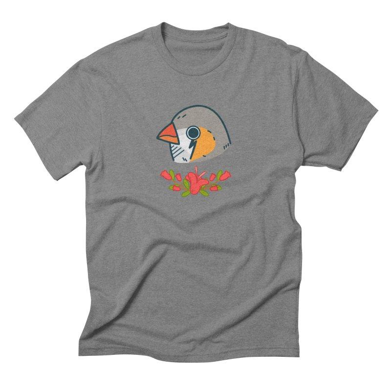 zebra finch Men's Triblend T-shirt by Casandra Ng