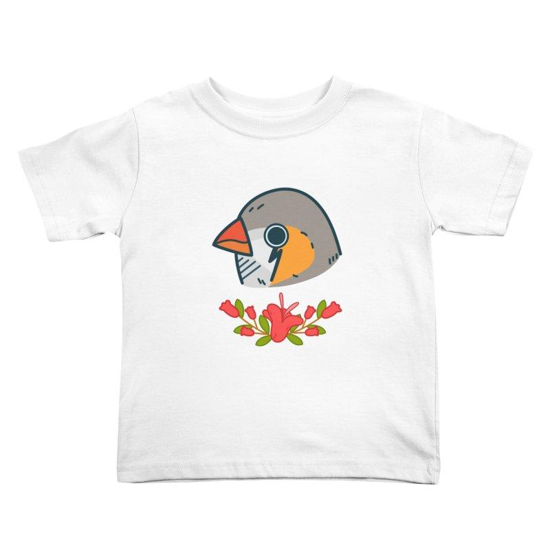 zebra finch Kids Toddler T-Shirt by Casandra Ng