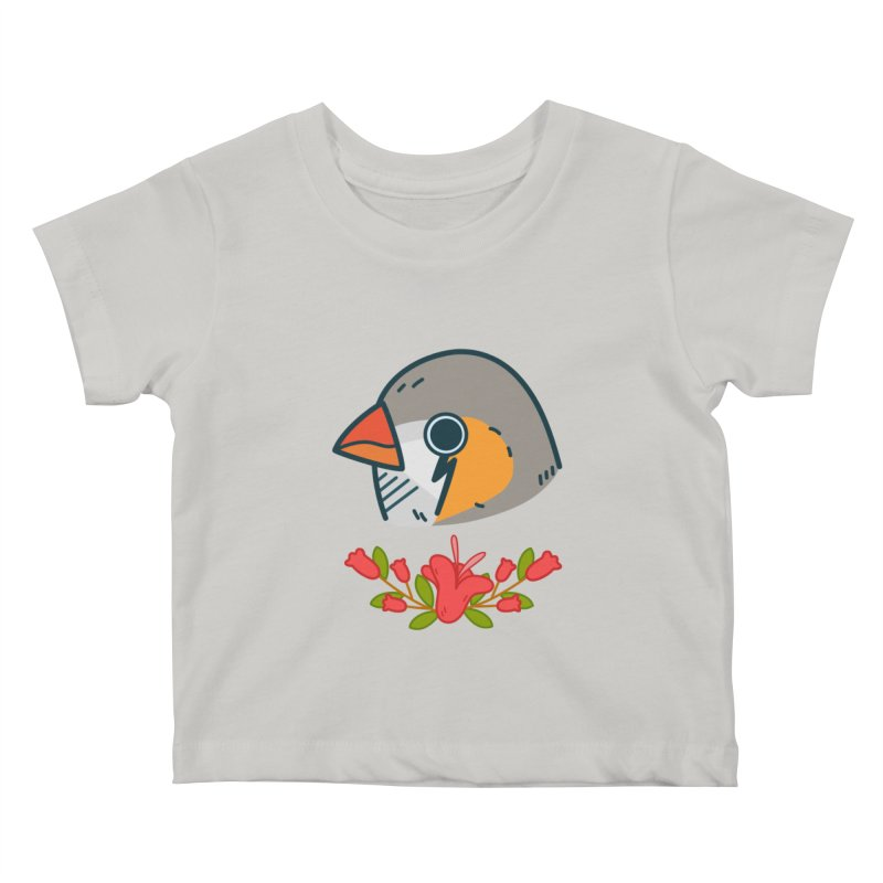 zebra finch Kids Baby T-Shirt by Casandra Ng
