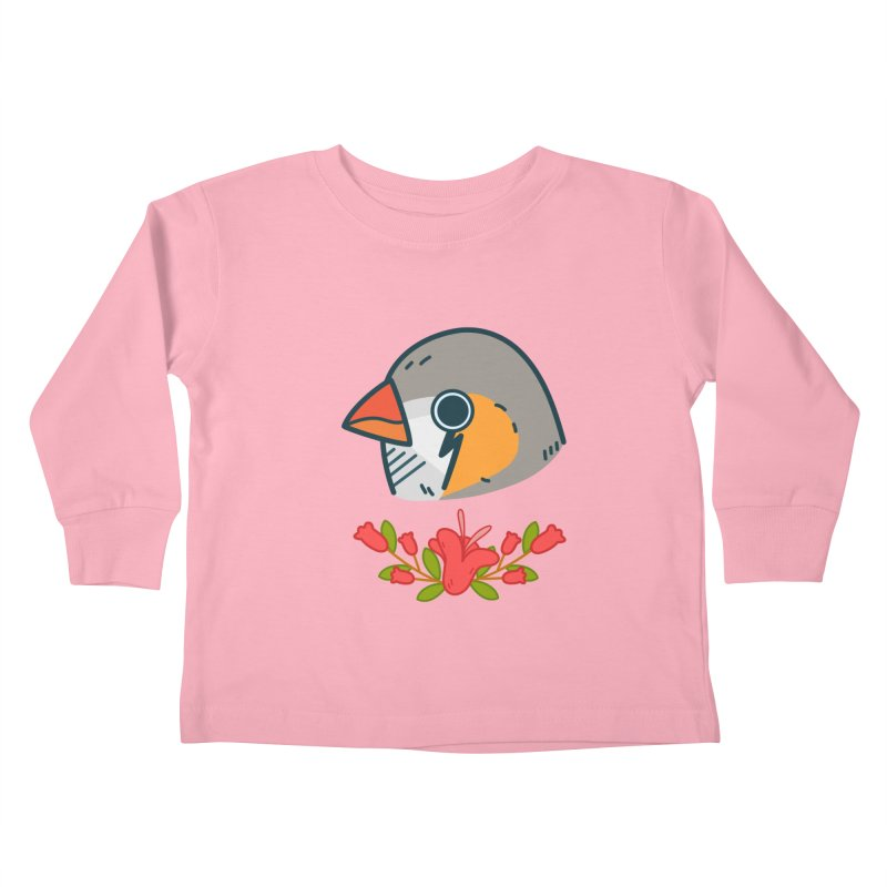 zebra finch Kids Toddler Longsleeve T-Shirt by Casandra Ng