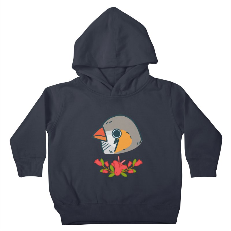zebra finch Kids Toddler Pullover Hoody by Casandra Ng