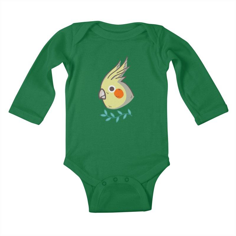 cockatiel Kids Baby Longsleeve Bodysuit by Casandra Ng