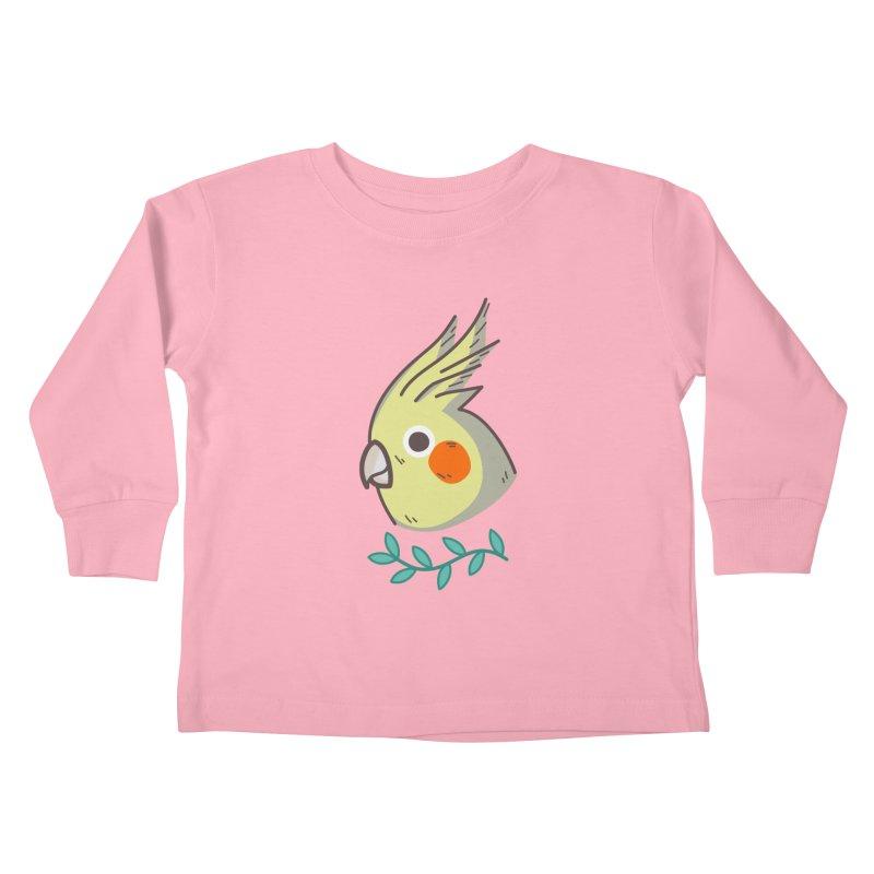 cockatiel Kids Toddler Longsleeve T-Shirt by Casandra Ng