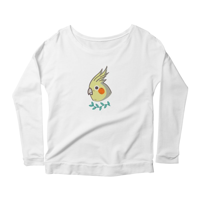 cockatiel Women's Scoop Neck Longsleeve T-Shirt by Casandra Ng